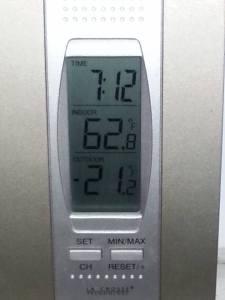 21 below zero