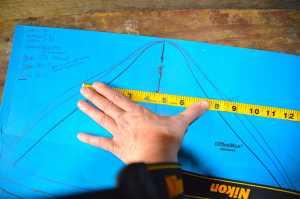 Measuring gullet width