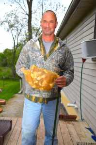 Morel bag of mushrooms with Joe