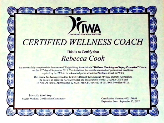 Certified Wellness Coach