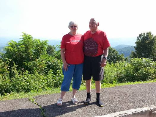 mom and dad blu ridge parkway